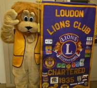Leo the Lion visits Loudon Lions Clubhouse 4-14